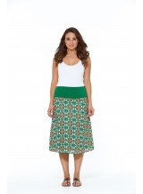 Dita Cotton Voile  Skirt – Capri Print